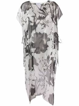 Salvatore Ferragamo длинная блузка с принтом 13H018A727665