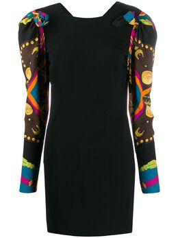 Versace платье с декоративными рукавами A85048A233265