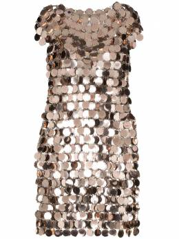 Paco Rabanne платье мини с пайетками 20PIRO014PS0133