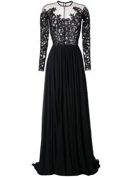 Saiid Kobeisy плиссированное платье с пайетками RSRT2036