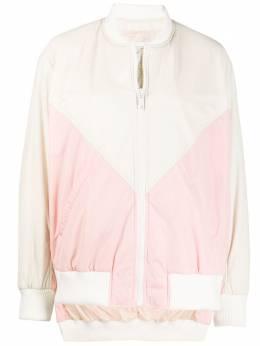 Army Yves Salomon куртка в стиле колор-блок на молнии 20EFV01981N61X