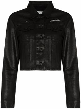 Off-White укороченная джинсовая куртка OWYE008R208120688600