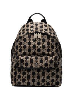 Balmain жаккардовый рюкзак с монограммой TM1S095TJBV
