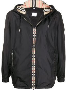 Burberry куртка с капюшоном и отделкой Vintage Check 8026630