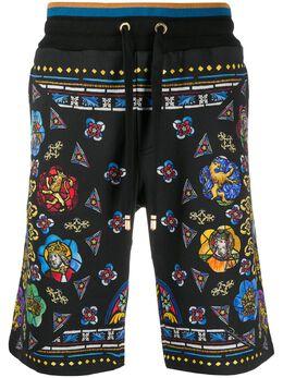 Dolce&Gabbana спортивные шорты с принтом Charlemagne GYZFATFI7JN