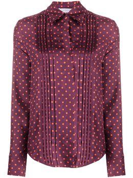 Gabriela Hearst плиссированная рубашка в горох 320103P009