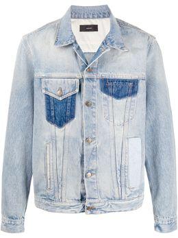 Alanui куртка с эффектом потертости и нашивками LMYE002S200110503535