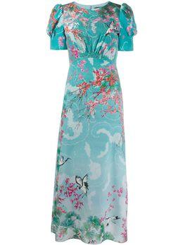 Saloni платье с цветочным принтом 102031409