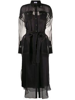 Brunello Cucinelli платье-рубашка с контрастной строчкой MF940ANV41C2355