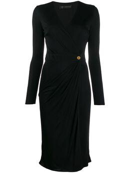 Versace платье с V-образным вырезом и драпировкой A85420A227759