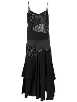 Almaz платье-комбинация в технике пэчворк с оборками DR0101S20