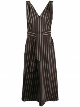 Brunello Cucinelli платье в полоску с поясом MH146A4539C001