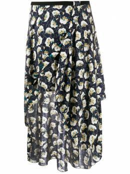 Chloe юбка асимметричного кроя с цветочным принтом CHC20SJU19336
