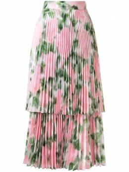 Richard Quinn плиссированная юбка с цветочным принтом RQSS2057PTAFFETA