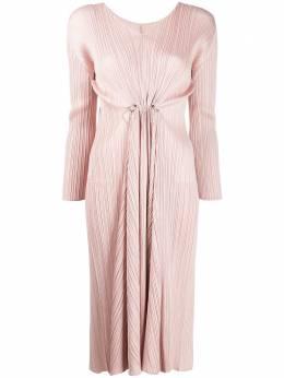 Pleats Please Issey Miyake плиссированное платье с V-образным вырезом PP06JH60423