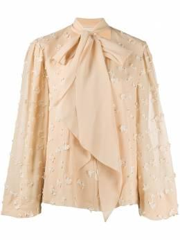 Chloe блузка с цветочной вышивкой CHC20SHT67484