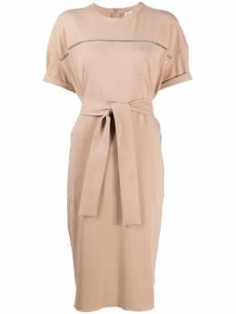 Brunello Cucinelli платье-футболка с поясом MH968ABU72CX852