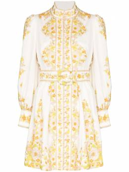 Zimmermann платье мини Super Eight Tubular с вышивкой 7418DSUP