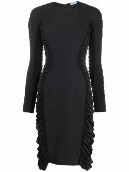 Mugler платье со сборками 20R1RO1177566