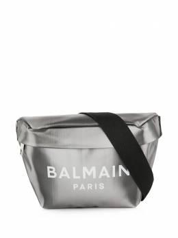 Balmain поясная сумка с эффектом металлик и логотипом TM0S130LLED
