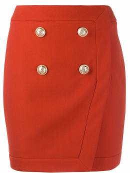 Balmain юбка с пуговицами TF14046V093
