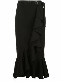 Johanna Ortiz юбка-карандаш миди с оборками F595A