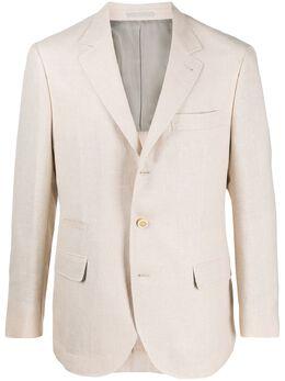 Brunello Cucinelli пиджак строгого кроя MH4227BTDC3586