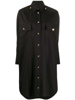 Givenchy платье-рубашка с асимметричным подолом BW20V212J1