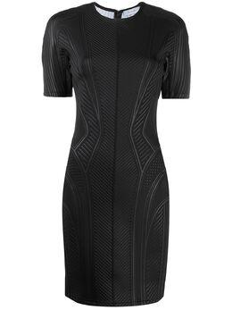 Mugler фактурное приталенное платье 20R3RO1185655
