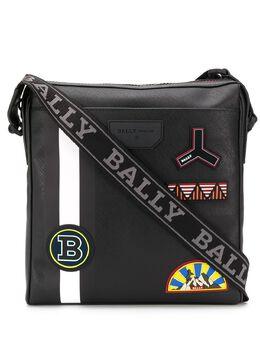 Bally сумка-мессенджер Skill с нашивками 6231838