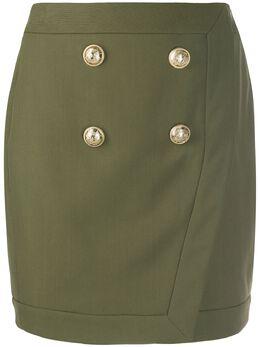 Balmain юбка мини в стиле милитари TF14046V093