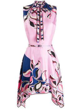 Emilio Pucci платье асимметричного кроя с принтом 0ERG500E853
