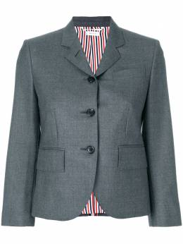 Thom Browne Center-back Stripe Sport Coat In Solid Wool Twill FBC010A03532