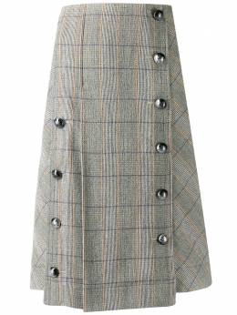 Chloe юбка в клетку со складками CHC19WJU17169