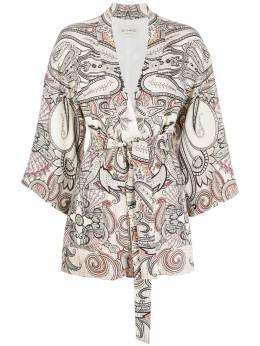 Etro жакет-кимоно с принтом пейсли 132754330