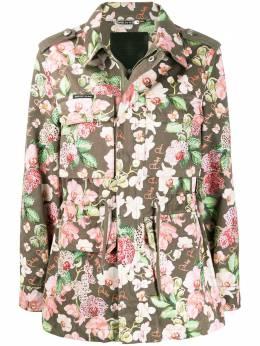Philipp Plein куртка карго с цветочным принтом S20CWRA0223PTE003N