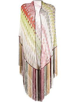 Missoni шарф с абстрактным узором и бахромой MDS00009BR007Z