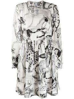Stella McCartney платье с абстрактным принтом 599749SOA12