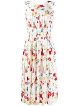 Ermanno Scervino платье без рукавов с цветочным принтом D362Q358HES