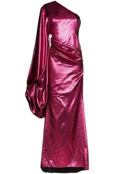 Halpern платье на одно плечо с драпировкой S20D111