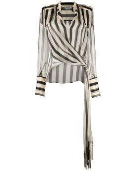 Monse полосатая блузка Regalia с завязкой-шарфом MR200400CSC
