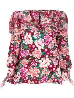 Faith Connexion платье-туника с цветочным принтом W1741T00519