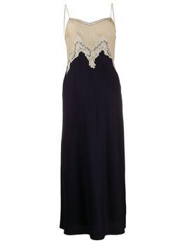 Gabriela Hearst платье-комбинация с контрастным верхом 320405S022