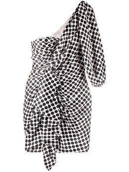 Alexandre Vauthier платье мини в горох с оборками 201DR1237