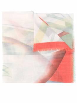 Etro кашемировый шарф с абстрактным принтом 137225735