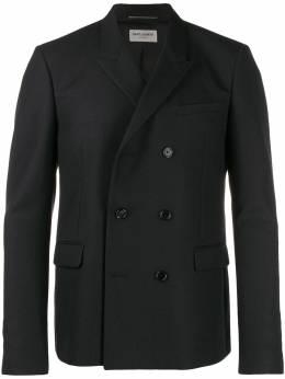 Saint Laurent двубортный пиджак 587475Y221W