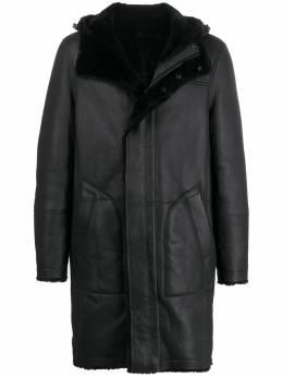 Yves Salomon длинное пальто с капюшоном 20WUM60100MERS