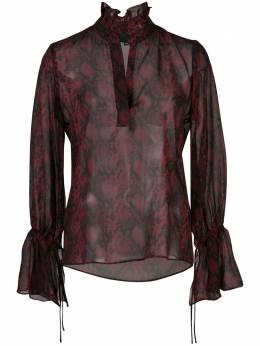 Nili Lotan блузка Demi со змеиным принтом 10550W137