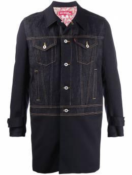 Junya Watanabe Man длинная джинсовая куртка WEC001S20