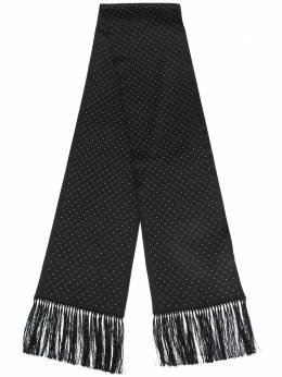 Saint Laurent шарф с заклепками 6050993Y011